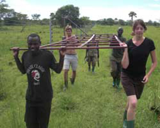 volunteers at rhino fund uganda